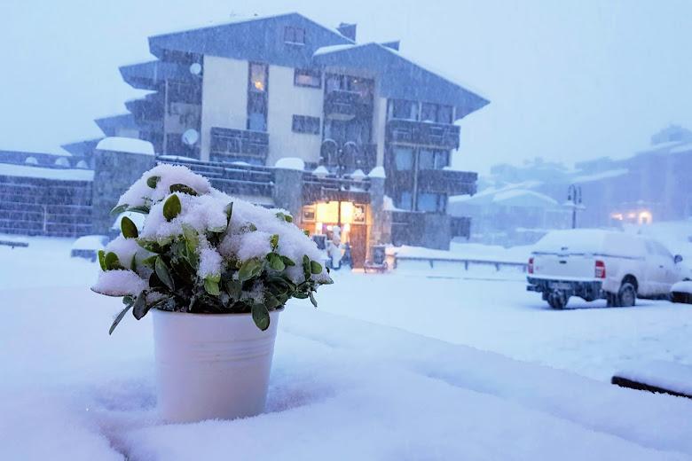 雪中的 Tignes