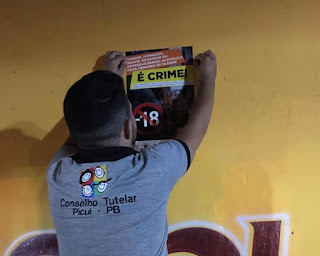 CMDCA-Picuí  eConselho Tutelar realizam campanha contra venda de bebidas alcoólicas para crianças e adolescentes