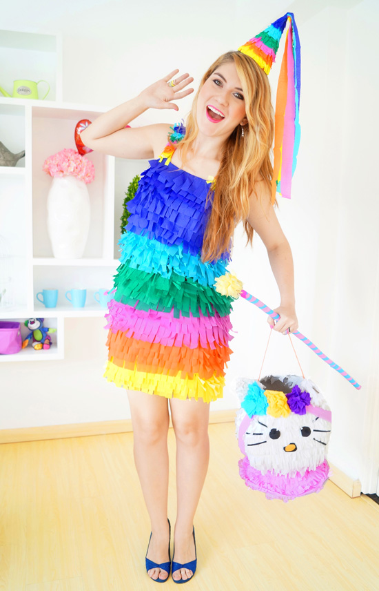 Easy Homemade Piñata Costume Tutorial for Halloween