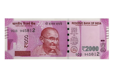 indian new 2000 bank note