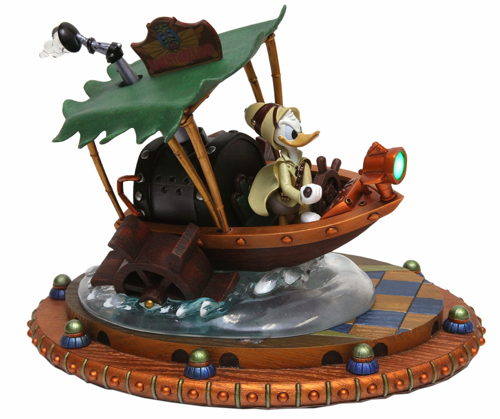 Donald Duck boat steampunk mechanical kingdom walt disney world wdw disneyland gears