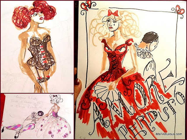 burlesque drawing