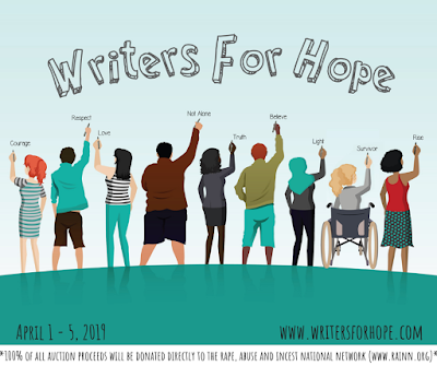 Writers For Hope logo with website