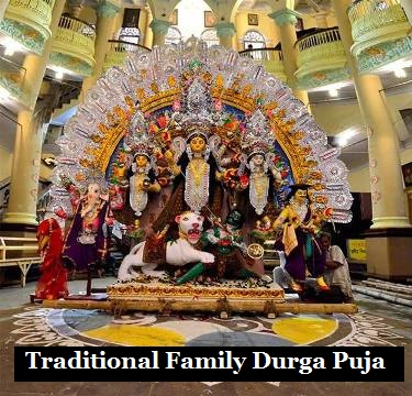 Traditional Family Durga Puja