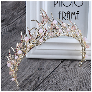buy hair tiara baroque crystal