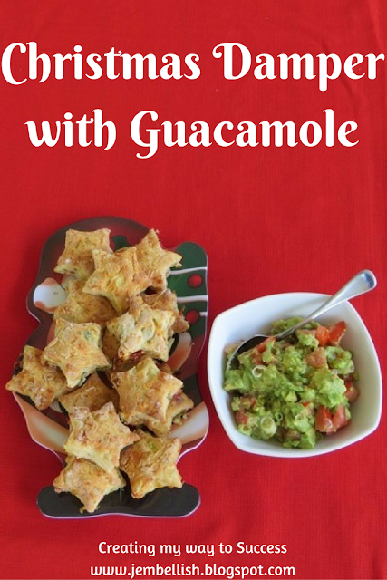 Christmas Damper with Guacamole