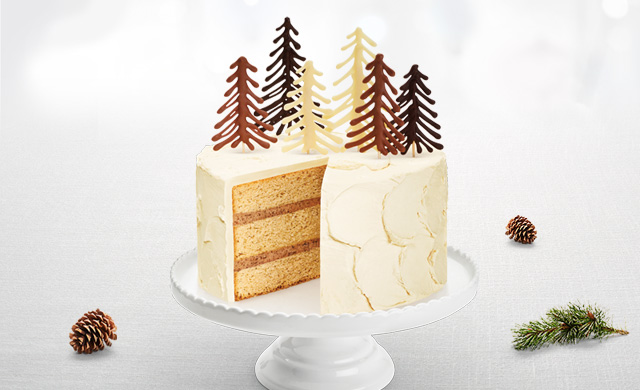 This Cake Is Worthy Of A Great British Bake Off Showstopper Accolade It S Chocolate Fir Tree Forest Sits Atop Three Layers Delicious Maple Sponge Which