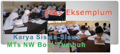 Teks eksemplum karya siswa