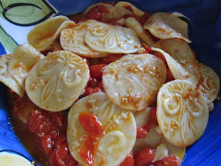 Corzetti Pasta with tomato sauce