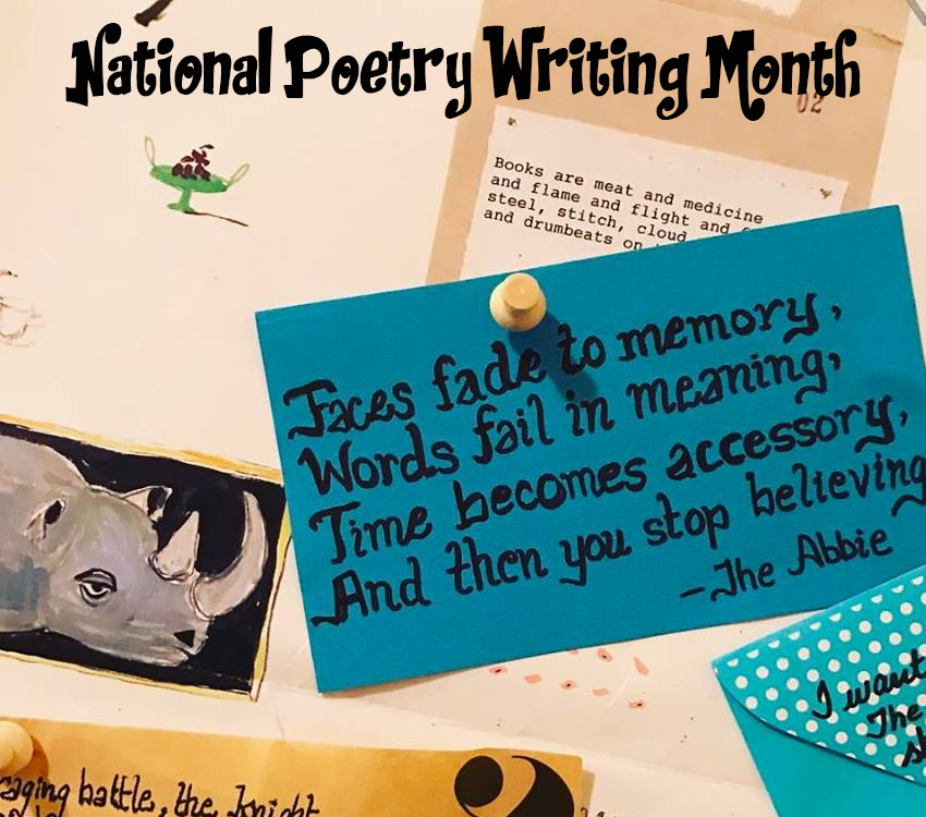 national poetry writing month Posts about national poetry writing month written by bluerabbit.
