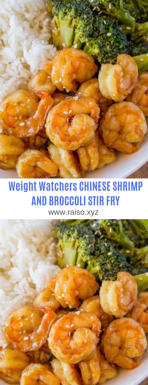 WEIGHT WATCHERS CHINESE SHRIMP AND BROCCOLI STIR FRY