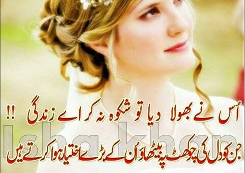 whatsapp status updates 2017 urdu poetry collection usne bhola diya to shikwa na kar a zindagi