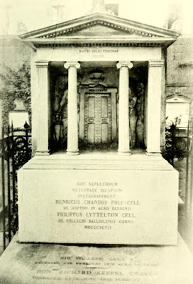 The tomb of the Margravine of Anspach, Naples,   from The Beautiful  Lady Craven, Lady Craven's   memoirs ed by AM Broadley and L Melville (1914)
