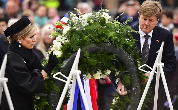King Willem-Alexander and Queen Maxima attend the National Remembrance Day ceremony at the Dam Square on May in Amsterdam