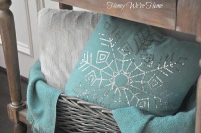 cuscino con fiocco di neve