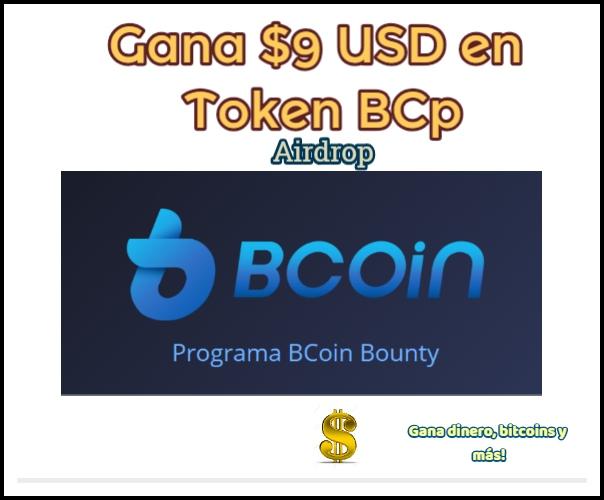 Gana $9 USD en Token BCT