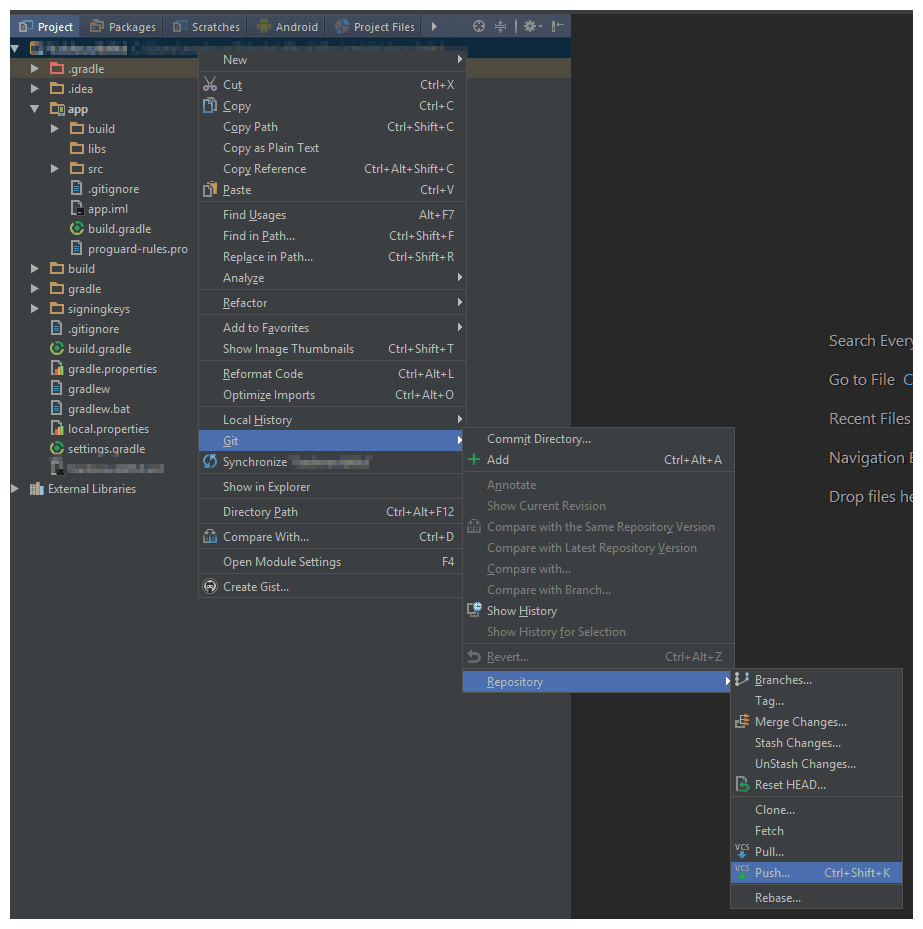 Android Interview Questions Github how to push source code to bitbucket from android studio