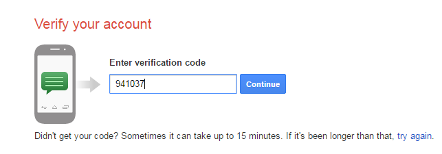 gmail phone number verification
