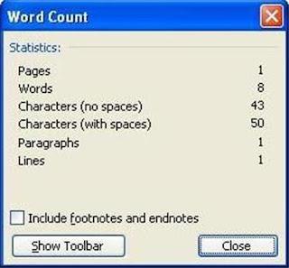 cara menghitung jumlah kata di Microsoft word Cara Menghitung Jumlah Kata di Ms Word 2003-2013
