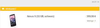 Nexus 5 Austauschgerät Januar 2014