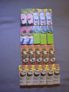 One side of Hotel Transylvania Candy Sticks boxes