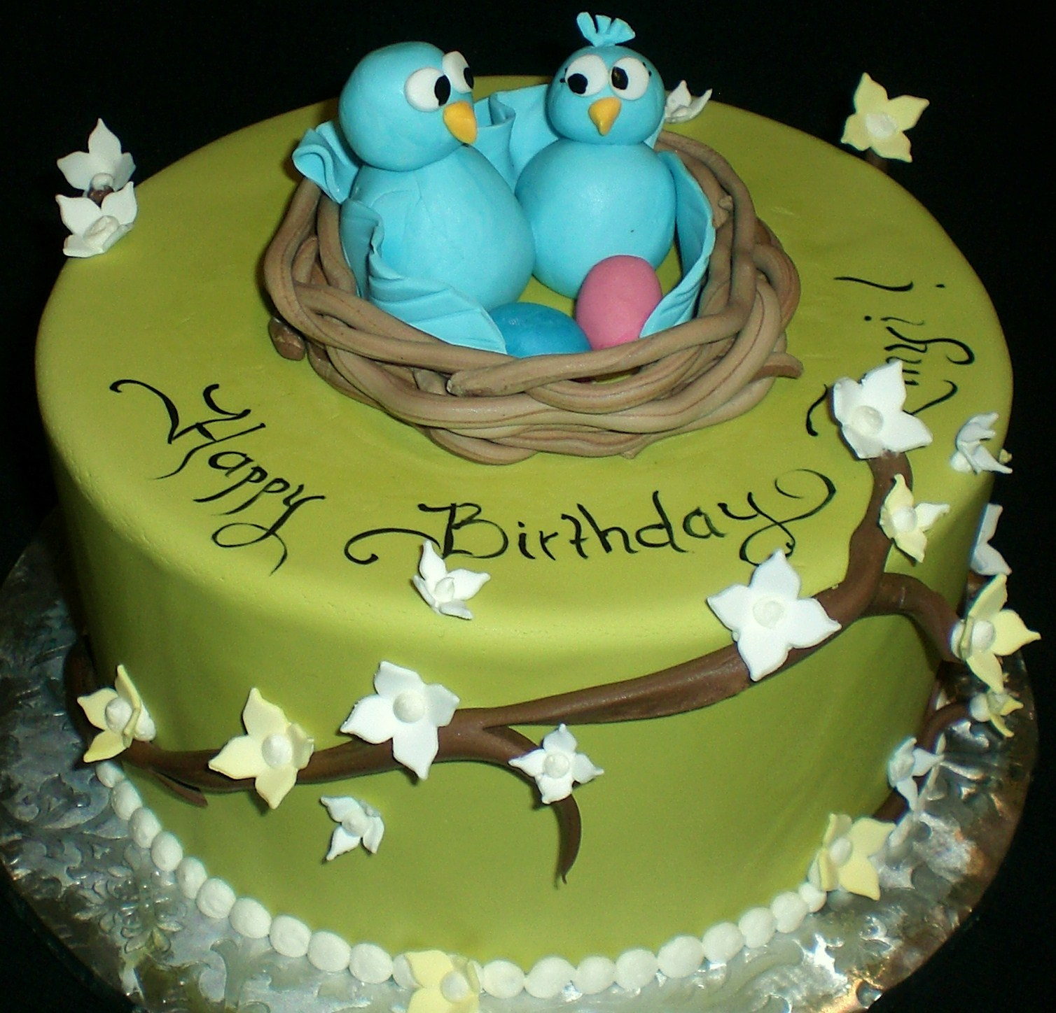9f1eb99d7809 The Crimson Cake Blog  Lovebird Cake