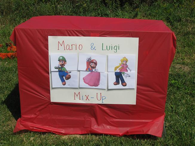 Super Mario Birthday Party Gluesticks