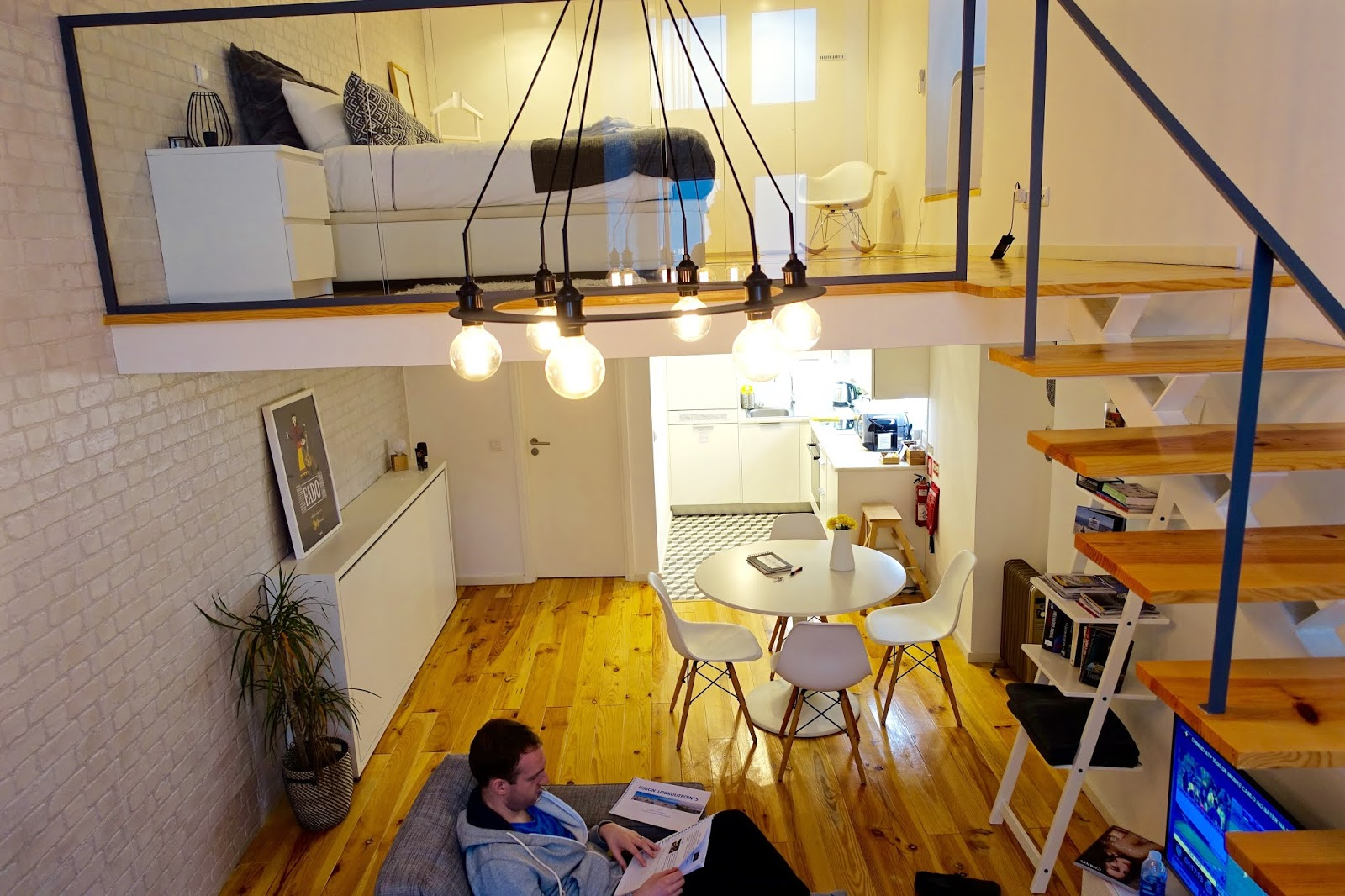 modern airbnb loft apartment in central lisbon
