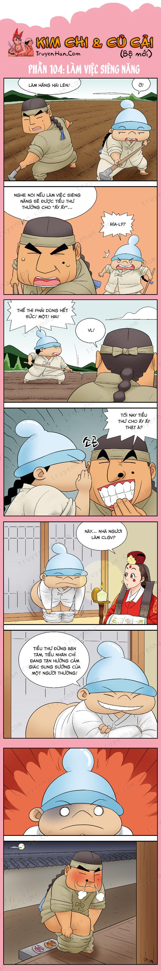 Kim Chi & Củ Cải (bộ mới) phần 104: Làm việc siêng năng