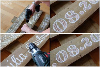 DIY wood sign