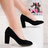 Pantofi dama cu toc negri Asdivia