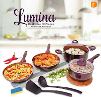 Dusdusan Lumina Cookware 10 Pieces Aluminium Non Stick (Set of 10) ANDHIMIND