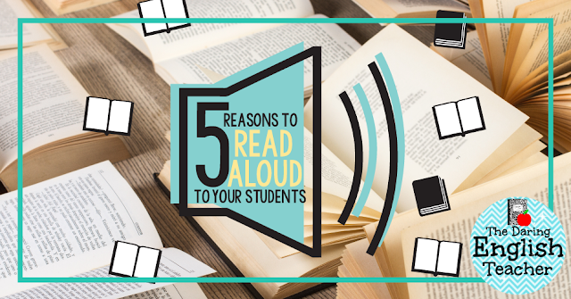 Five reasons to read aloud to your middle school and high school students.