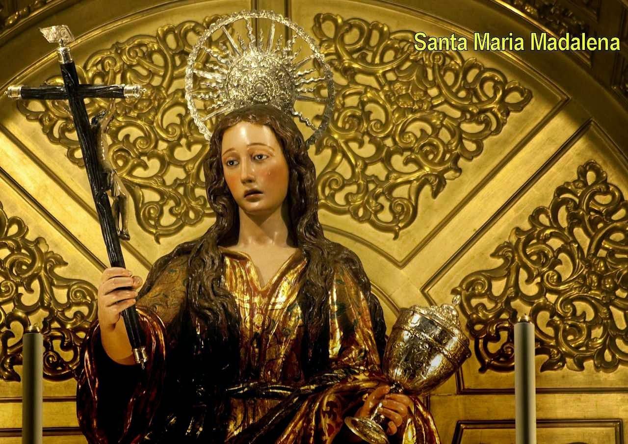Santa Maria Madalena, com a Cruz da penitência e o vaso do bálsamo preciosíssimo. Sevilha, Espanha.