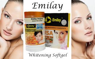 Suplemen Pemutih Kulit dan Wajah Cepat Emilay Whitening