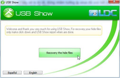 USB Show – Phần mềm hiện file ẩn trong USB