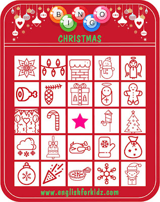 Printable Christmas bingo for ESL students