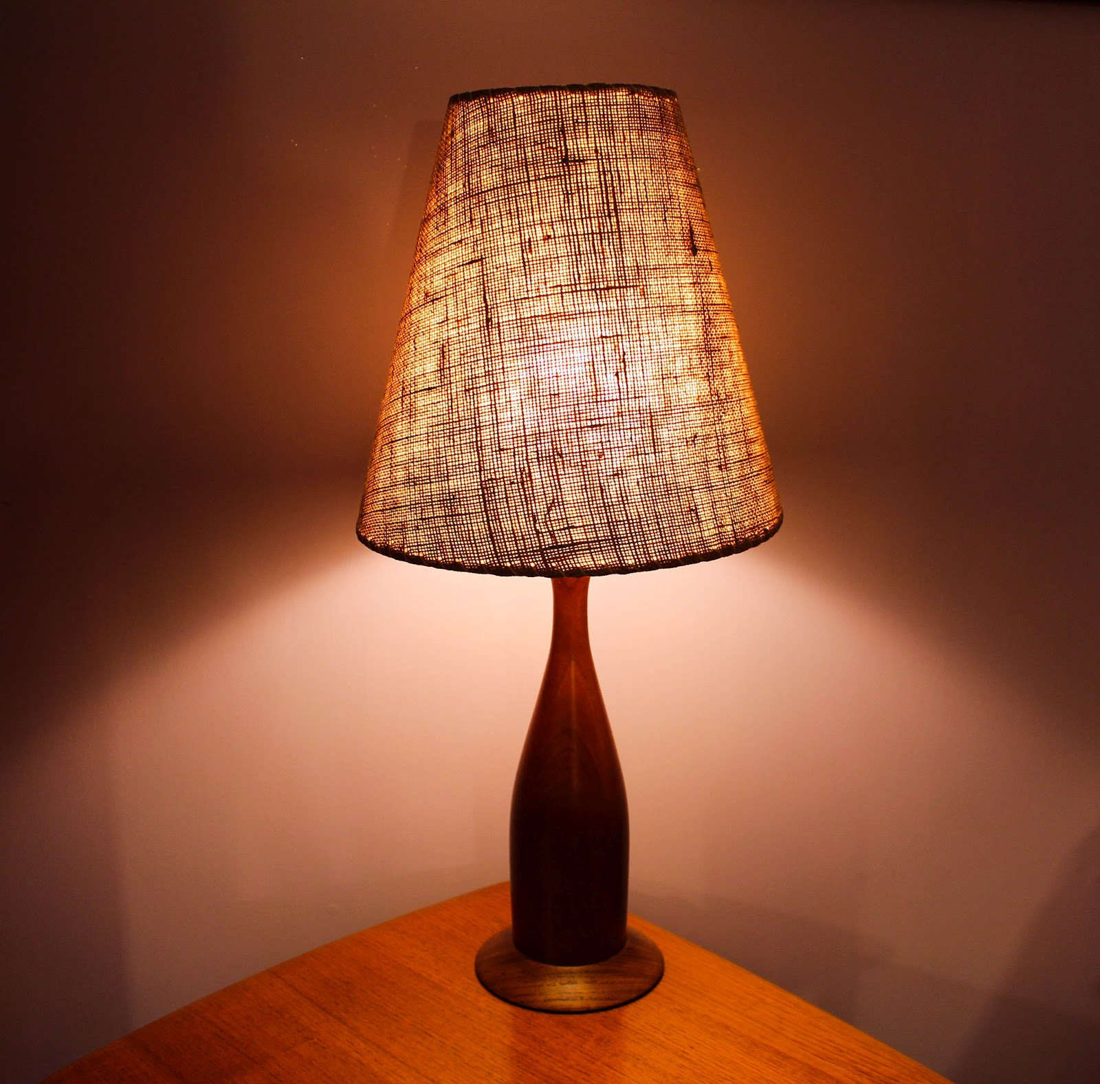 Mansion Decor Danish Mid Century Teak Table Lamp
