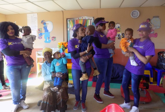 Hollywoodbets Gauteng team spent time with the children at Mpumelelo Day Care Centre - Mandela Day 2016