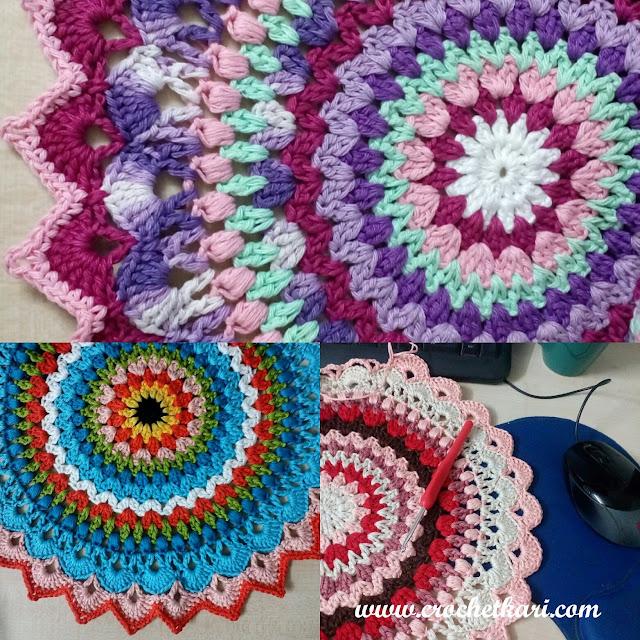 crochet lotus mandala crochetkari