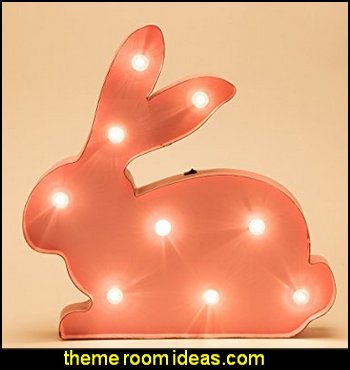Marquee LED Lighted Bunny   Hipster decorating style - hipster decor - Hipster wall art - Hipster room decor - Hipster bedding - urban decor - retro decor - vintage cool decor - Strampunk - hipster bedroom ideas - Hipster home decor -   Hipster gifts - Marquee signs - hipster style quirky fun decor - hipster bedroom decorating ideas