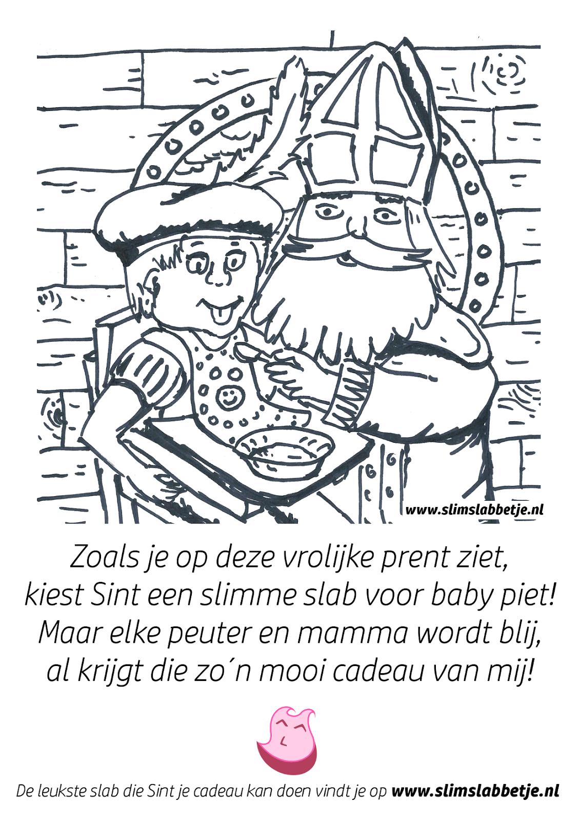 Kleurplaten Sinterklaas Babypiet.Slim Slabbetje Blog Een Slab Als Sinterklaas Cadeau En Een Leuke
