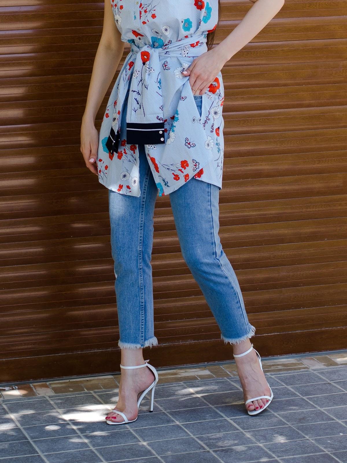 fashion blogger diyorasnotes diyora beta jeans lookoftheday shirt dress long shirt summer