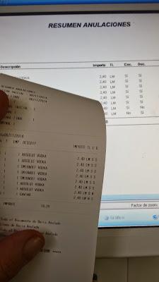 Informe de anulaciones del tpv BDP Net