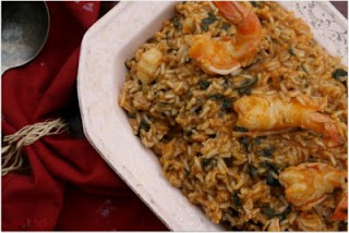 Shrimp and Spinach Brown Rice Risotto
