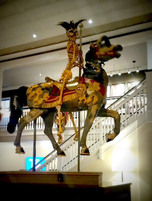 Zombie carousal horse display