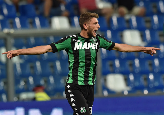 Sassuolo: Berardi infortunato salterà Juventus e Bilbao