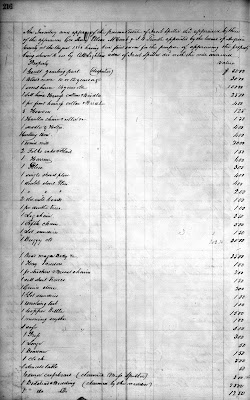Jacob Spitler's Inventory, Augusta Co., VA WB 40 page 216
