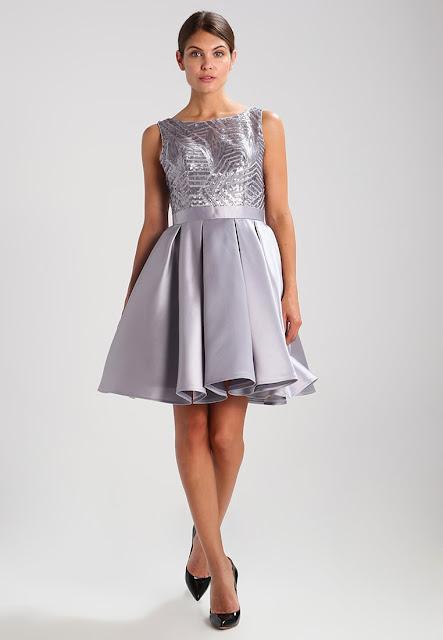 Luxuar Fashion Vestito elegante Corto Argento | Outfit Matrimonio Inverno 2017/2018
