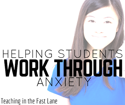 Ideas for helping students work through their jitters and develop coping mechanisms for dealing with anxiety.